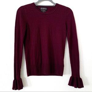 Nanette Merino Wool Bell Long Sleeve Sweater